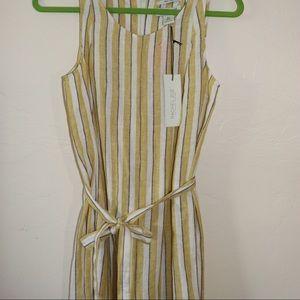 Racheal Zoe lined yellow strip jumpsuit